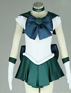 Inspirovaný Sailor Moon Sailor Neptune Anime Cosplay kostýmy Cosplay šaty Patchwork Krátký rukáv Šaty Kravata Pro Dámské