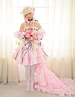 Inspirovaný Chobits Chii Anime Cosplay kostýmy Cosplay šaty Šaty Patchwork Dlouhý rukáv Sukně Šaty Rukávy Náhrdelník Pro Dámské