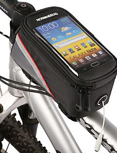ROSWHEEL תיק אופנייםתיקים למסגרת האופניים טלפון נייד תיק רוכסן עמיד למים תיק קטל מובנה עמיד לאבק מסך מגע טלפון/Iphone תיק אופנייםעור PU