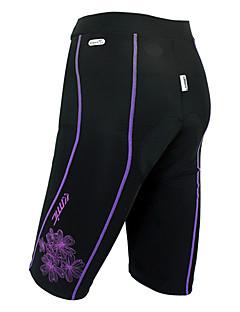 SANTIC Mulheres Moto Shorts Shorts Acolchoados Calças Vestível Respirável Tapete 3D Elastano Nailom Sólido Primavera Verão Ciclismo/Moto