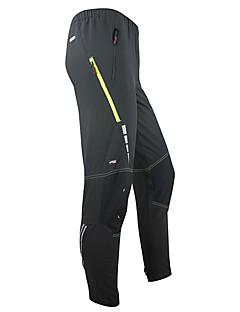 SANTIC Calças Para Ciclismo Homens Moto Calças Meia-calça Térmico/Quente A Prova de Vento Vestível Elastano Terylene Sólido Inverno Outono