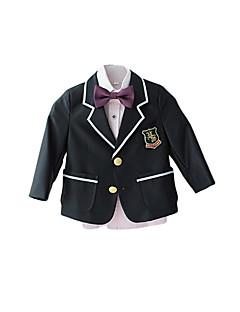 Полиэстер Детский праздничный костюм - 4 Куски Включает в себя Куртка Брюки Жилет Бабочка