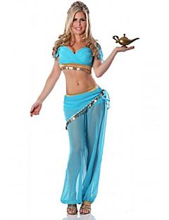 Cosplay Kostüme Party Kostüme Prinzessin Märchen Fest/Feiertage Halloween Kostüme Blau einfarbig Top Hosen Halloween Karneval Frau