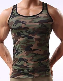 Men's Sport Camouflage Army Green Tank Vest