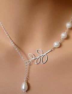 Жен. Ожерелья с подвесками Жемчужные ожерелья В форме листа Жемчуг Сплав Уникальный дизайн Свадьба бижутерия европейский Бижутерия