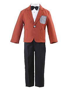 Полиэстер Детский праздничный костюм - 4 Куски Включает в себя Куртка Брюки Рубашка Бабочка