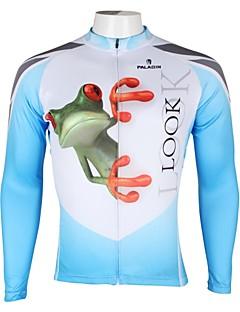ILPALADINO Maillot de Cyclisme Homme Manches Longues Vélo Maillot Hauts/Tops Séchage rapide Résistant aux ultraviolets Respirable 100 %