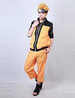 Inspiré par Shippuden Naruto Naruto Uzumaki Manga Costumes de Cosplay Costumes Cosplay Mosaïque Manches Longues Manteau Pantalon PourMasculin