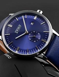 SKMEI Herren Armbanduhr Quartz Japanischer Quartz Kalender Wasserdicht Leder Band Schwarz Blau Braun