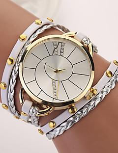 לנשים שעוני אופנה שעון צמיד קווארץ פאנק PU להקה בוהמי אלגנטי צבעוני פוקסיה חום אדום ירוק כחול