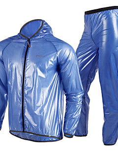 Nuckily Cycling Jacket with Pants Women's Unisex Bike Windbreakers Raincoat/Poncho Jacket Tops Bottoms Clothing Suits Waterproof Quick