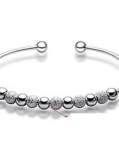 Mulheres Bracelete Pulseira Básico Moda bijuterias Prata de Lei Formato Circular Jóias Para Casamento Festa Diário Casual Presentes de