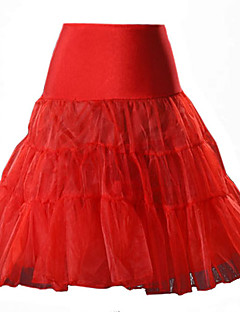 A-linje Nederdele-Dame Ensfarvet Net-Sexet Højtaljede Afslappet/Hverdag Mini Bomuld Nylon Andre Mikroelastisk Efterår