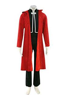 Inspiré par Alchimiste d'acier Edward Elric Manga Costumes de Cosplay Costumes Cosplay Mosaïque Manches Longues Manteau Gilet Pantalon