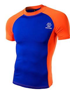 Camisa para Ciclismo Homens Manga Curta Moto Camiseta Pulôver Blusas Esportes Verão Ciclismo Esportes Relaxantes Verde Branco Laranja