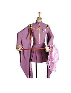 Inspiré par Vocaloid Hatsune Miku Vidéo Jeu Costumes de cosplay Costumes Cosplay / Kimono Couleur Pleine Violet Manche LonguesManteau /