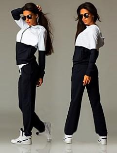 Pentru femei Trening Manșon Lung Keep Warm Alergat Frecare Redusă Ελαστικό Ușor Hanorac cu Glugă Pantaloni Set de Îmbrăcăminte Topuri