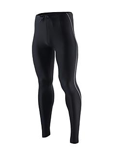 Arsuxeo Herre Tights til jogging Fort Tørring Pustende Myk Refleksbånd Reduserer gnaging Komprimering Tights Bukser Leggings Bunner til