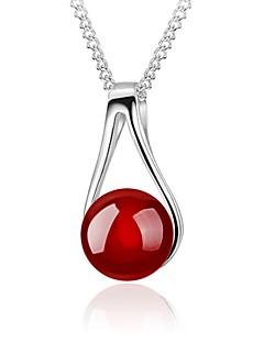 Жен. Ожерелья с подвесками Шарообразные Стерлинговое серебро Мода Простой стиль бижутерия Бижутерия Назначение Повседневные