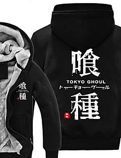 Inspiré par Tokyo Ghoul Ken Kaneki Manga Costumes de Cosplay Cosplay à Capuche Imprimé Manches Longues Haut Pour Unisexe