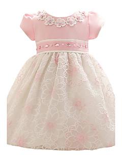 Baby Fest/Cocktail Kjole Blomstret Polyester Alle årstider Blå Rosa