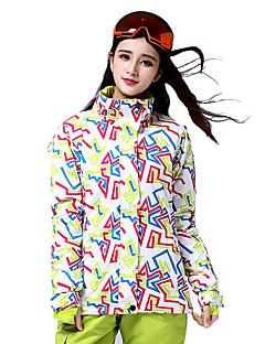Roupa de Esqui Jaquetas de Esqui/Snowboard Mulheres Roupa de Inverno Algodão / Poliéster Arquitetura Vestuário de InvernoMantenha Quente
