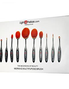 Lightinthebox® 10 Brush Lavastus Synteettinen tukka Ammattilaisten / Täysi kattavuus Plastic Huuli / Kasvot / Silmä Muut
