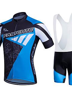 Fastcute Sykkeljersey med bib-shorts Dame Herre Barn Unisex Kortermet Sykkel KlessettFort Tørring Fukt Gjennomtrengelighet Pustende 3D