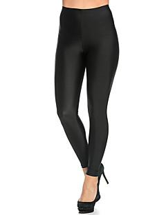 Dla kobiet Jednolity kolor Legging,Nylon