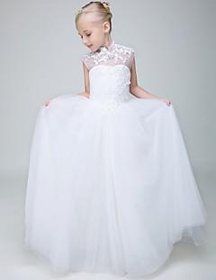 ball gown nilkan pituus kukka tyttö mekko - tylli hihaton korkea niska helmillä xmf