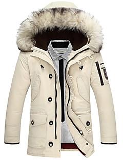 男性用 ロング パッド入り コート,コットン プレイン 長袖