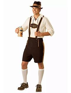 Cosplay Kostumer Festkostume Oktoberfest Tjener/Servitrice Festival/Højtider Halloween Kostumer Lys Kaffe Hvid Brun Ensfarvet Top Bukser