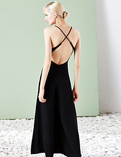Szexi / Egyszerű Női Jumpsuits,UjjatlanNem elasztikus,Len