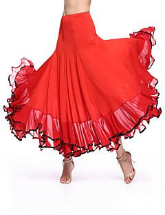 Standardní tance Spodní část oděvu Dámské Výkon Süt Filtresi Nařasený Jeden díl Přírodní Sukně M:86 L:88 XL:90