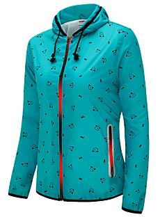 Dame T-skjorte til jogging Langermet Vindtett Pustende Bekvem Solkrem Lettvektsmateriale Jakke Genser Topper til Trening & Fitness