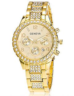Xu™ Női Divatos óra Karóra Kvarc Naptár Rozsdamentes acél Zenekar Régies (Vintage) Alkalmi Ezüst Arany Vörös arany Arany Ezüst Vörös arany
