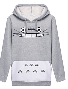 Inspiré par Mon voisin Totoro Chat Manga Costumes de Cosplay Cosplay à Capuche Imprimé Manches Longues Manteau Pour Unisexe