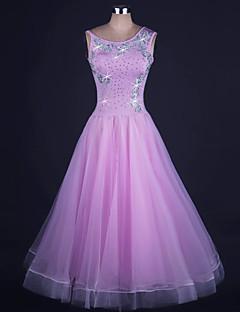 Budeme taneční šaty taneční šaty dámské provedení organza / lycra beading 1 kus bez rukávů přírodní šatek
