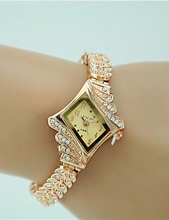 לנשים שעוני שמלה שעוני אופנה שעון צמיד קווארץ חיקוי יהלום סגסוגת להקה מזל אלגנטי זהב זהב