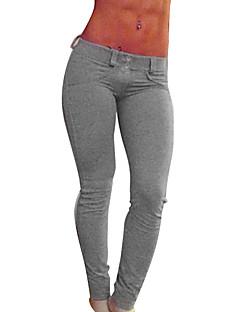 Dame Tights til jogging Pustende Leggings Bukser Bunner til Yoga & Danse Sko Trening & Fitness Tett Svart Grå Rød S M L XL