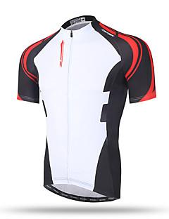 XINTOWN Homme Manches Courtes Vélo Hauts/Tops Séchage rapide Respirable Poche arrière Anti-transpiration Confortable Térylène Printemps