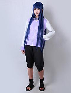 Inspirirana Naruto Hinata hyuga Anime Cosplay nošnje Cosplay Suits Jednobojni Dugih rukava Kaput Kratke hlače Za Mužjak Ženka