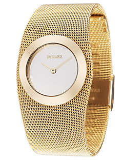 ASJ לנשים שעוני שמלה שעוני אופנה שעון יד Japanese קווארץ סגסוגת נחושת להקה אלגנטי יוקרתי זהב מוזהב