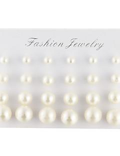 Herrn Damen Ohrstecker Elegant Modeschmuck Perle Künstliche Perle Diamantimitate Tropfen Kugel Schmuck Für Alltag Normal
