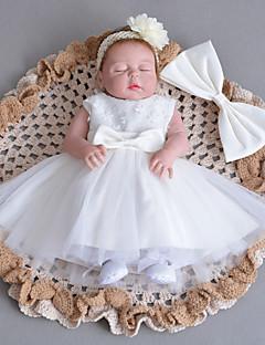 Baby Kjole Blonder Bomull Tyll Vinter Høst