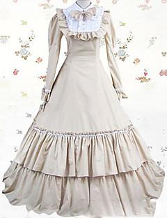 Yksiosainen/Mekot Gothic Lolita Lolita Cosplay Lolita-mekot Valkoinen Vintage Holkki Pitkähihainen Täysipitkä Leninki varten
