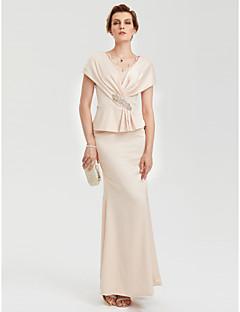 בתולת ים \ חצוצרה צווארון V עד הריצפה שרמוז מסיבת ערב רשמי שמלה עם ריינסטון תחרה בד בהצלבה על ידי TS Couture®