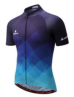Miloto Camisa para Ciclismo Homens Manga Curta Moto Camisa/Roupas Para Esporte Lista Reflectora Secagem Rápida Respirabilidade Esticar