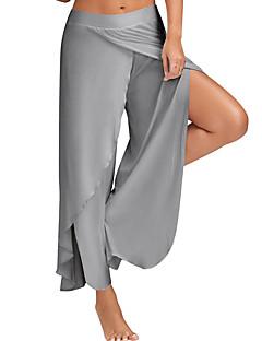 Damskie Prosty Aktywny Średnio elastyczny/a Spodnie szerokie nogawki Spodnie,Średni stan Spodnie szerokie nogawki,Rozporek Jendolity kolor