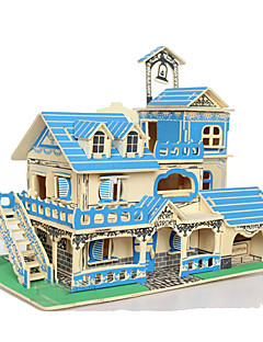 Puzzle 3D puzzle Stavební bloky DIY hračky Obdélníkový Přírodní dřevo